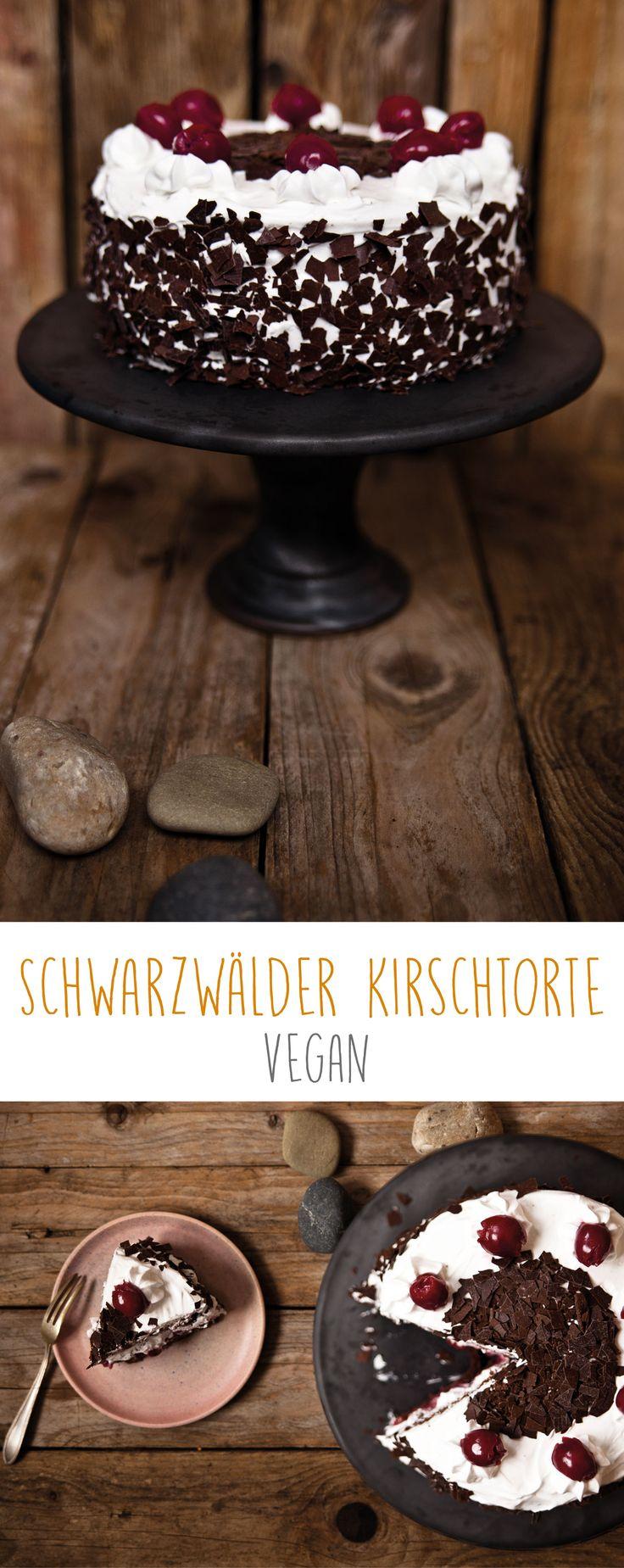 vegane Schwarzwälder Kirschtorte