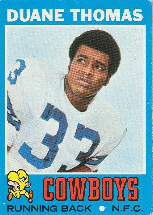 84b9cc5f878 1971 Rb Duane Thomas | Running Backs | Nfl dallas cowboys, Cowboys, Dallas  cowboys