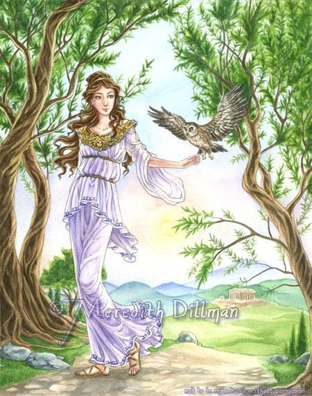 Athena-athena, goddess, greek, mythology, owl, olive tree ...