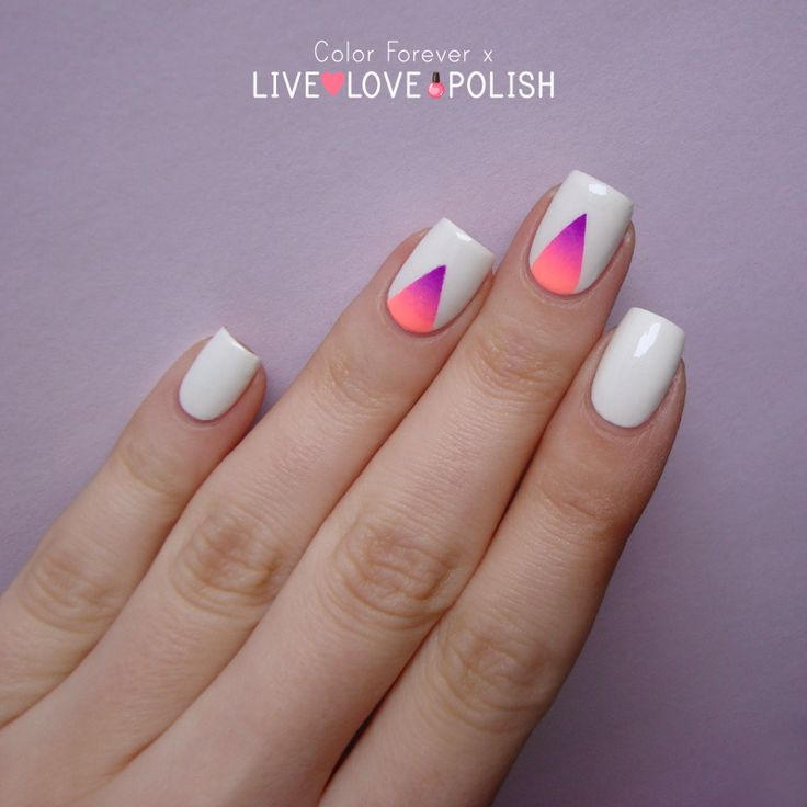 Nailpolis Museum of Nail Art | Gradient triangle nail art by ania - The 25+ Best Triangle Nail Art Ideas On Pinterest Triangle Nails