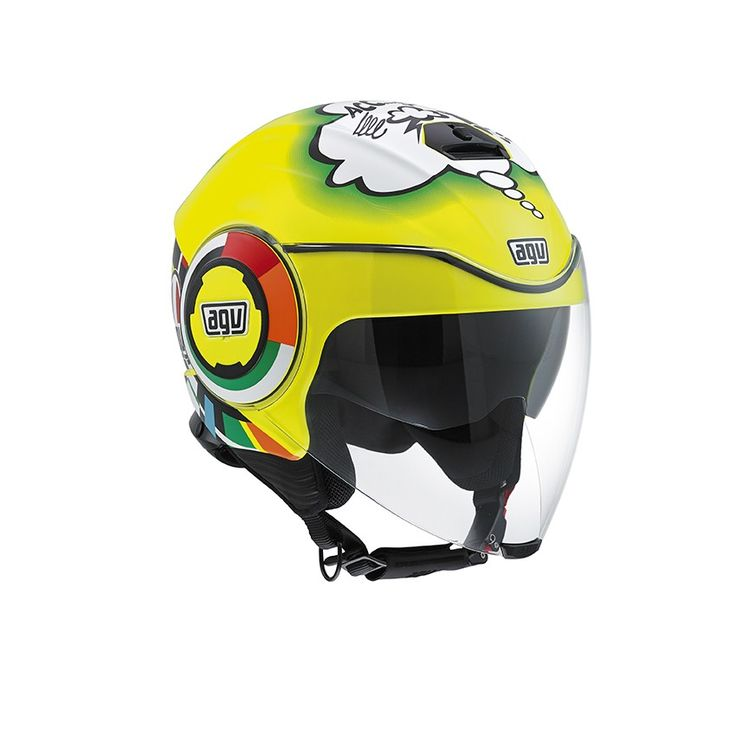 Casco moto jet giallo AGV Fluid E2205 Top Misano 2011