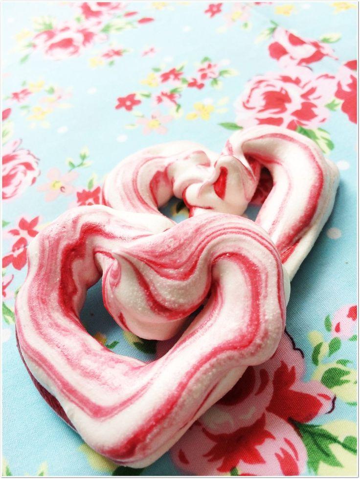 Walentynkowe bezy (Valentine meringues)