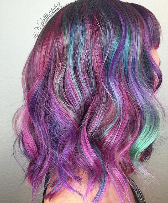 @violetthestylist from @bouffantbeautybar is the artist... Pulp Riot is the paint.