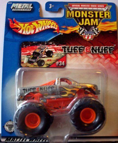 Hot Wheels Monster Jam Metal Collection Mattel Wheels #34 TUFF-E-NUFF 2002 Collectible Truck 1:64 Scale by Mattel. $16.16. Mega Monster Tires. 1:64 Scale. 2002 Production Year. Official Monster Jam Truck. Die-Cast. Hot Wheels Monster Jam Metal Collection Mattel Wheels #34 TUFF-E-NUFF 2002 Collectible Truck 1:64 Scale