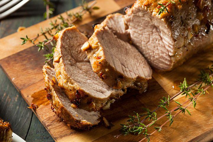 Joy Bauer's Pork Tenderloin, Baked Potato, and Carrots: Need a break from chicken? Try this pork tenderloin recipe for dinner.