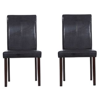 Warehouse of Tiffany Brown Leather Dining Room Chairs (Set of Four)   Overstock™ Shopping - Great Deals on Warehouse of Tiffany Dining Chairs
