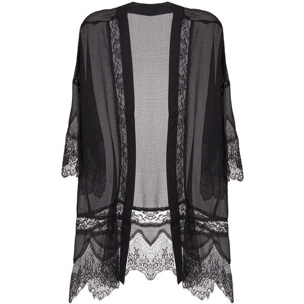 Lush Clothing Delicate Lace Kimono ($41) ❤ liked on Polyvore featuring outerwear, cardigans, kimono, tops, jackets и lush clothing