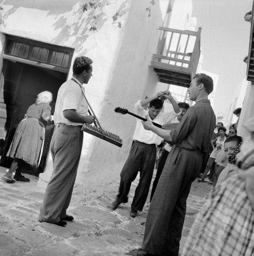 Μουσικοί. Μύκονος, 1950-1955 Βούλα Θεοχάρη Παπαϊωάννου