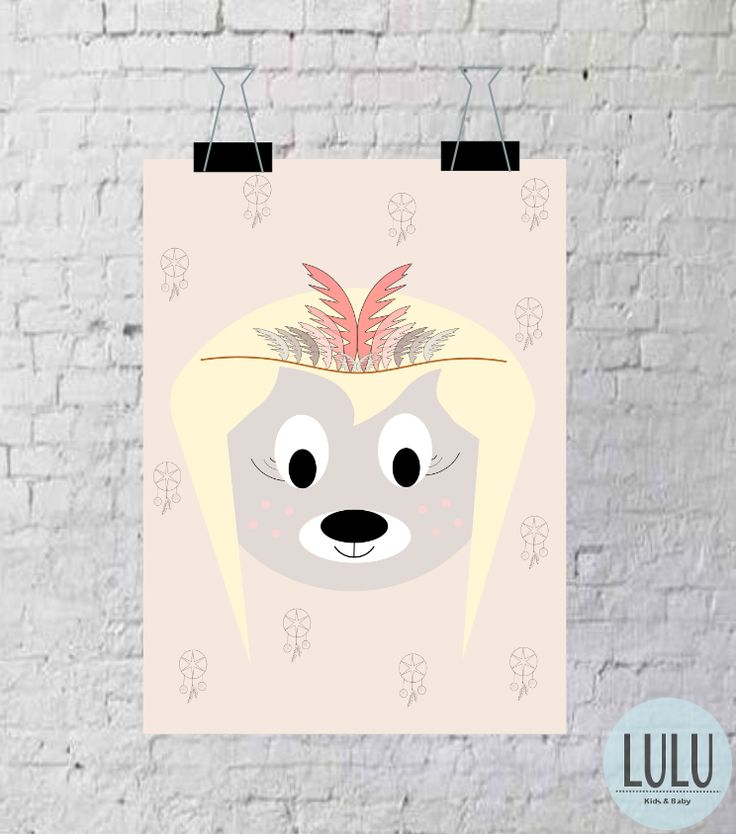 Plakat 'Lulusiowa indianka' / Poster 'Indian' Project by LULU