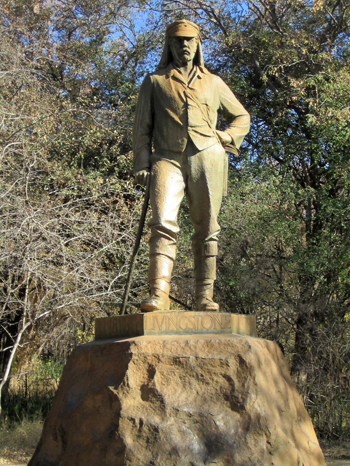 Victoria Falls, Zimbabwe the statue is of Dr. Livingston