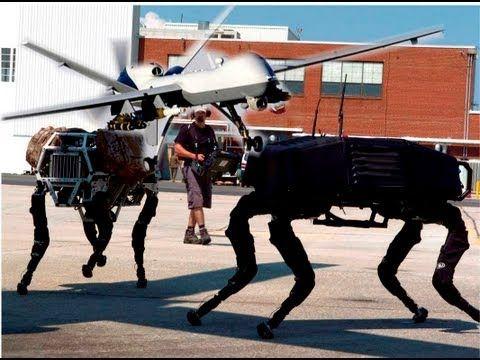 Drones e Robôs da Nova Ordem Mundial - YouTube