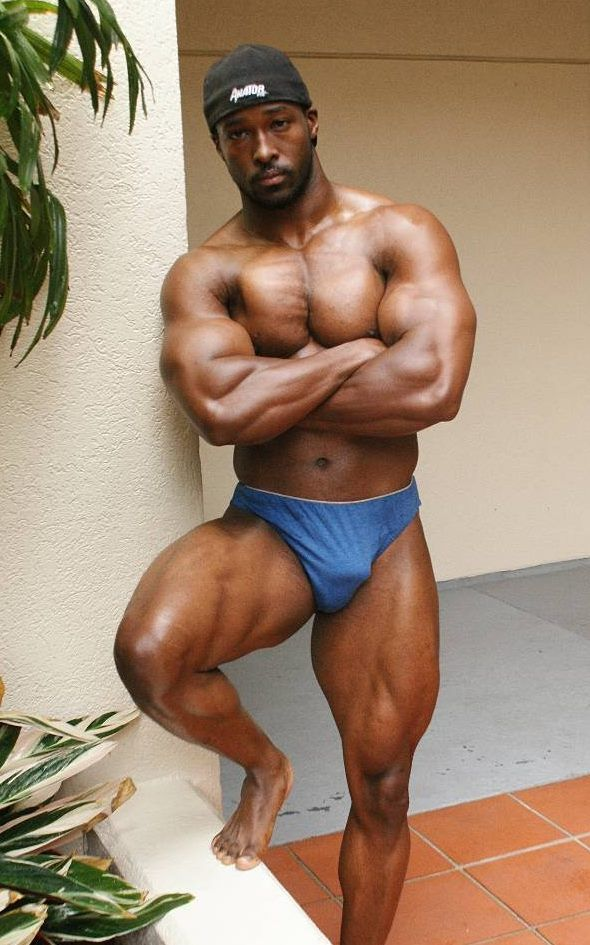 black naked body builder