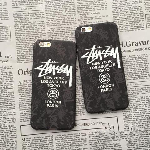 iPhone7 plus カバー ステューシーStussy アイフォン7ケース メンズ クール ブラック 芸能人 薄型 カッコイイ iPhone6s/6s カバー