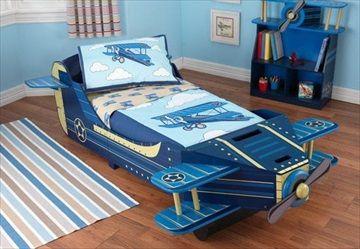 KIDKRAFT BARNESENG Flyseng/Airplane Toddler Bed' Frifrakt Kr 2349