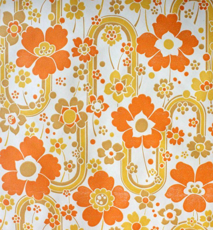 1 rouleau de papier peint vintage vie d 39 puce motifs pinterest ann es 70 papier peint et. Black Bedroom Furniture Sets. Home Design Ideas