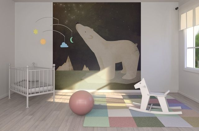 Ryan Fowler - Constellations Polar Bear - Wall Mural & Photo Wallpaper - Photowall