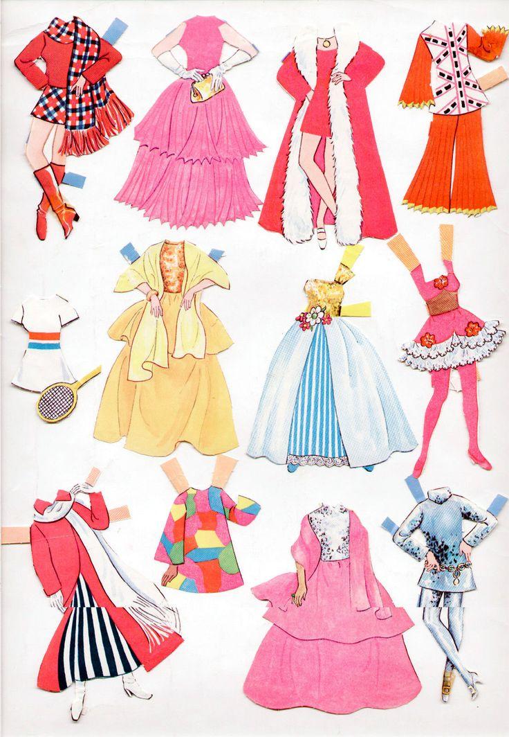 Vintage Whitman Topper Dawn Paper Dolls Featuring Glori Angi Dale 1971 CUT | eBay