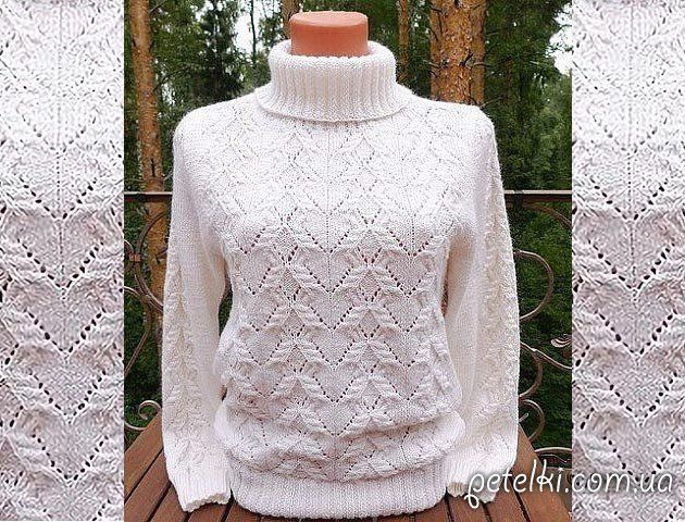 Симпатичный узор для пуловера. Схема Свитера на любой вкус, много!