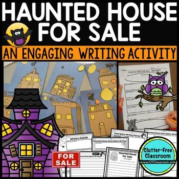Halloween Writing Halloween Writing inspires kids to be creative. Even your most reluctant writers will enjoy describing and creating a haunted house. This is a motivating writing activity that provides students with an opportunity to practice descriptive writing skills. The packet includes differentiated materials to accommodate multiple grade levels and academic abilities.