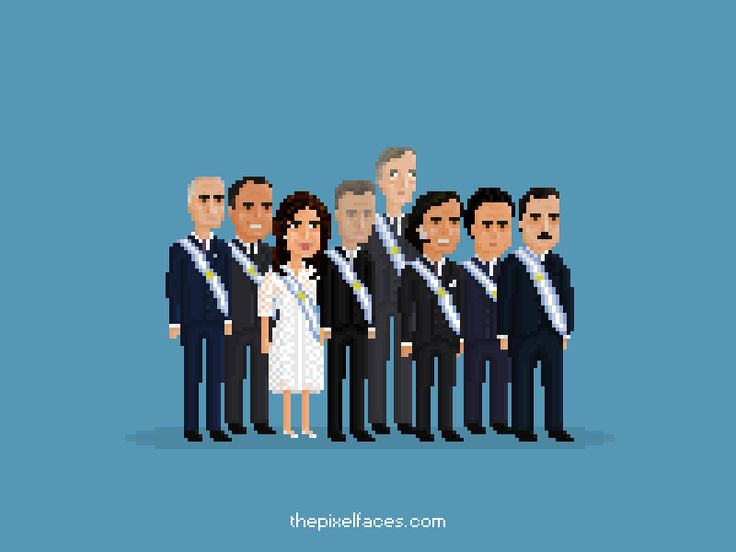 Pixel Faces - Presidentes Argentinos