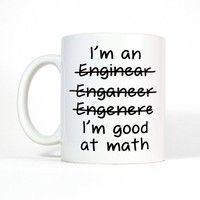 15$ Wish | I'm an Engineer Mug, Funny Coffee Mug, Funny Gifts for Men, Math Gifts, Spelling Mug, Funny Mug, Right or Left Handed Mug-Men's Gift for Him