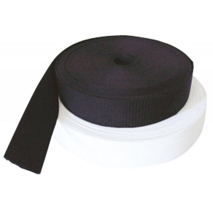 Cincha de polipropileno blanca 30 mm de ancho. Rollos de 50mt, se vende por…
