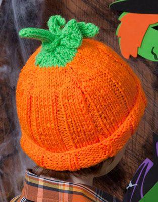 Knit Pumpkin Hat Pattern LW2829 | Free Patterns