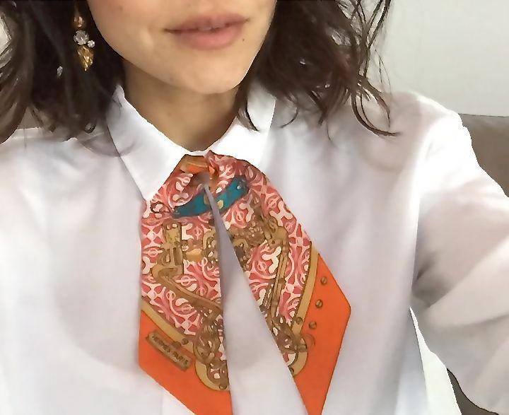 How to use a twilly Hermès, itallian fashion blogger , Nayla C
