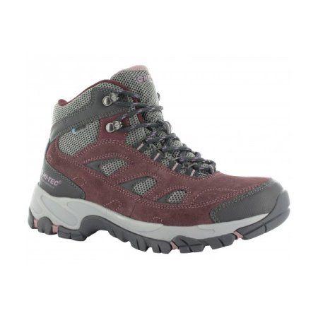 Hi-Tec 22059 Logan Mid Womans Waterproof Hiking Boots Plum/Cool Grey/Elderberry