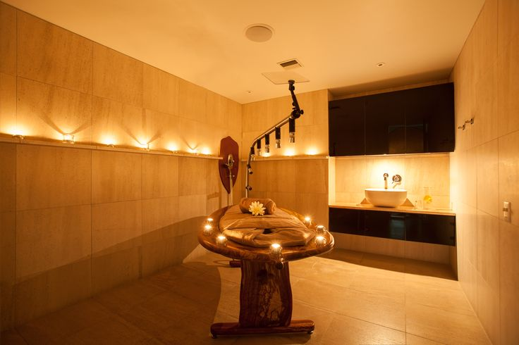 Vichy massage: This ultimate treatment features water therapy and massage performed simultaneously by our therapist. Relax on our acacia cedar wood table under a cascade of water jets and let your tension melt away.