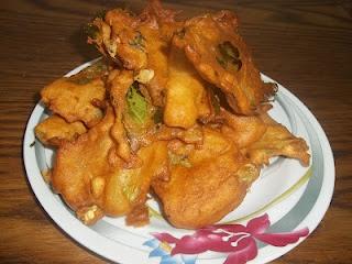 Cauliflower Leaf Pakoras Recipe- Indian Style Fritters- Gluten Free and Regular