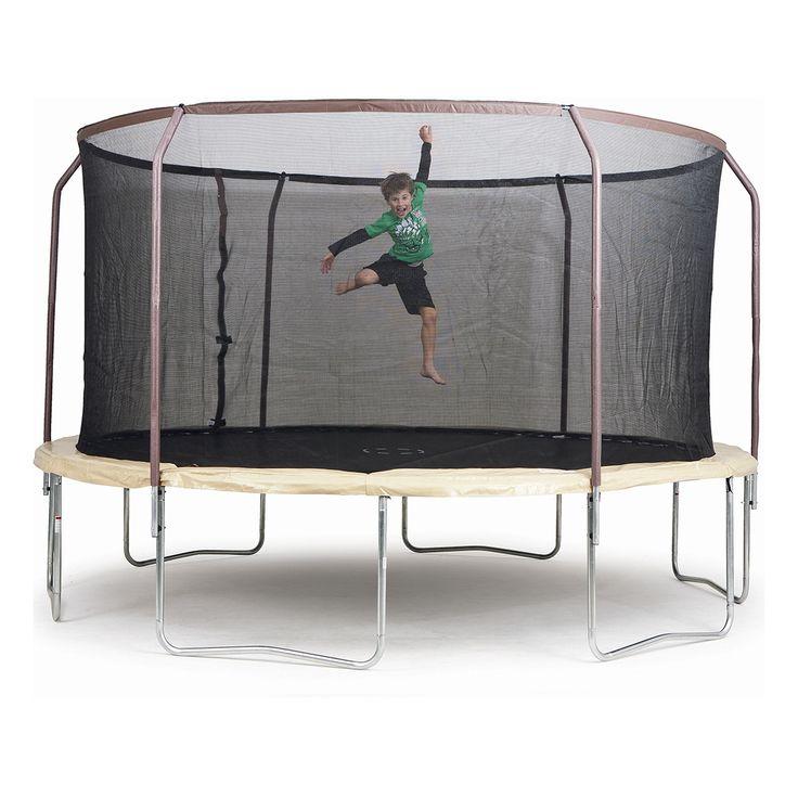 Trampoline with Steel Flex Metal Ring Enclosure - 14ft.   Kmart