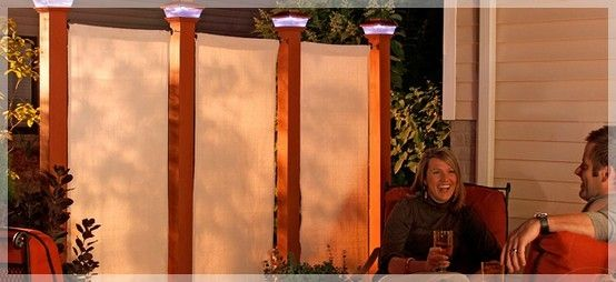 Patio privacy screen by bunbeck deck patio pinterest for Simple outdoor privacy screens