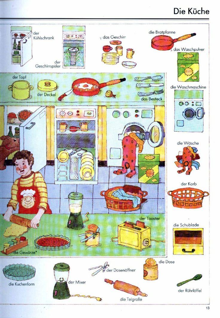 61 besten deutsch wortschatz k che bilder auf pinterest deutsch lernen sprachen und deutsch. Black Bedroom Furniture Sets. Home Design Ideas