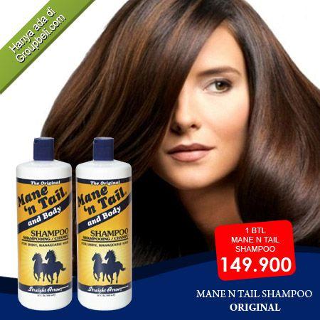 Shampoo Mane n Tail Original mengatasi rambut rusak serta rambut tumbuh lebih kuat hanya Rp 149.900 http://groupbeli.com/view.php?id=741