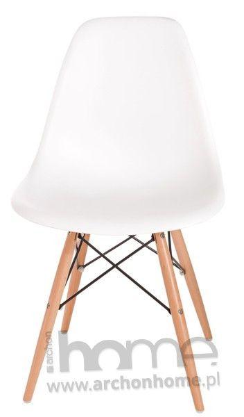 Krzesło Socrates białe, drewniane nogi  | ARCHONhome