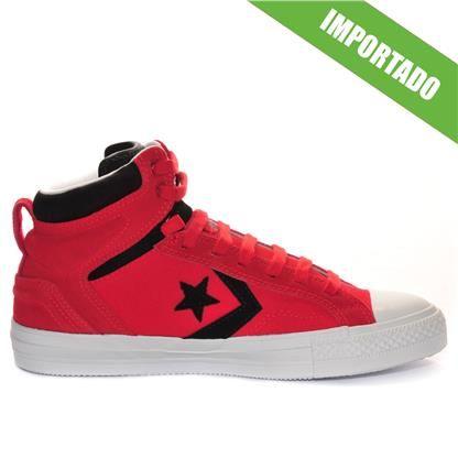 Tênis Converse Cons Star Player Plus Hi Red Black 142151