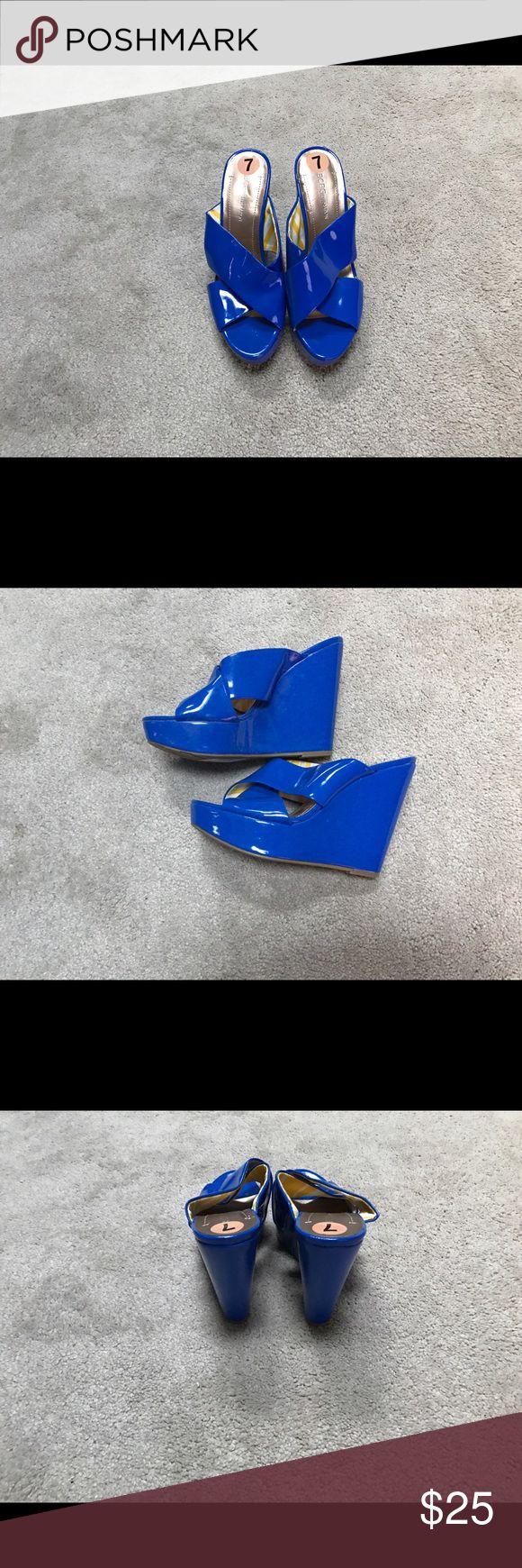 BCBGENERATION Wedges Royal Blue BCBGENERATION Wedges Never Worn BCBGeneration Shoes Wedges