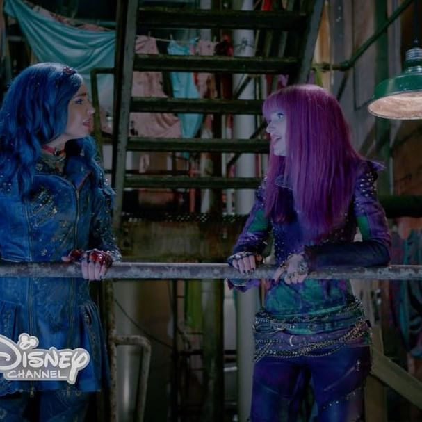 """A look back at Mal & Evie's most memorable BFF moments from """"Descendants"""" in their #Descendants2 duet """"Space Between."""" #FlashbackFriday #NewMusicFriday"""
