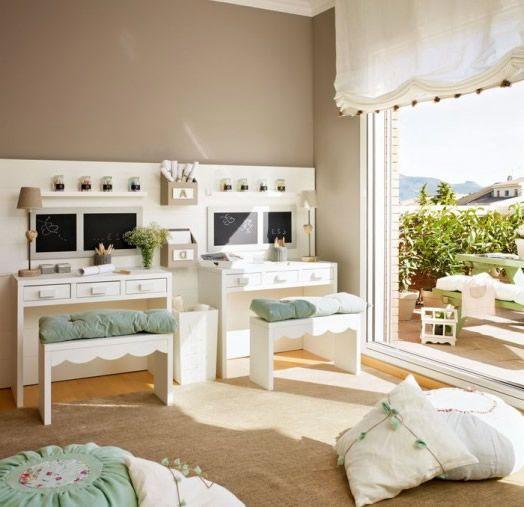 Fresh Wandfarbe f r Kinderzimmer Gr n und Beige Kombinieren Haus Dekoration