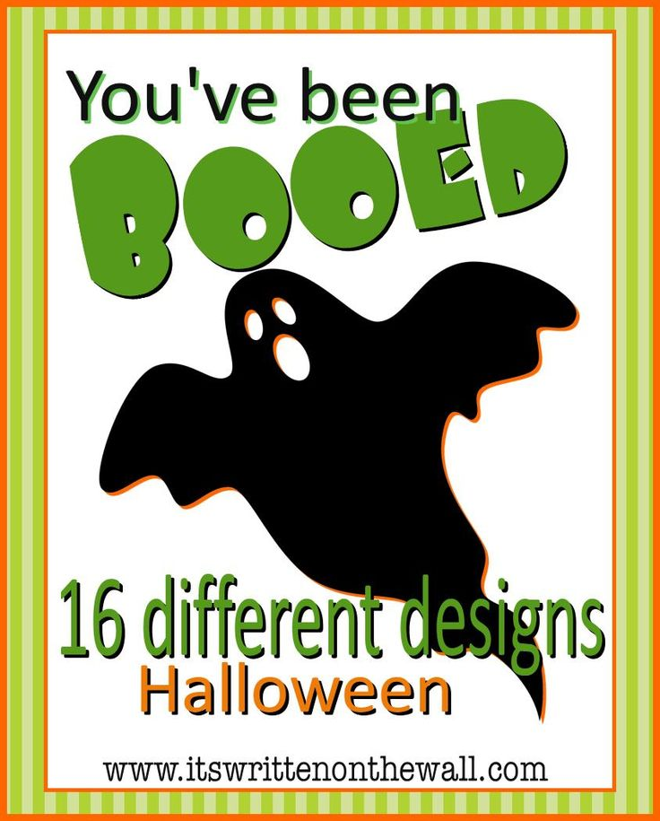You've Been BOOed! Fun Treats for the Neighborhood! 16 Versions