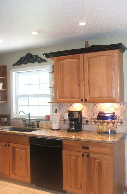 23 best images about kitchen cabinet tops on pinterest for Oak crown molding for kitchen cabinets