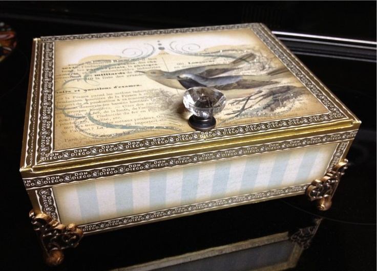 16 best images about decorating cigar boxes on pinterest for Cardboard cigar box crafts