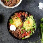 Chipotle Burrito Bowl with Beef Barbacoa and Quinoa