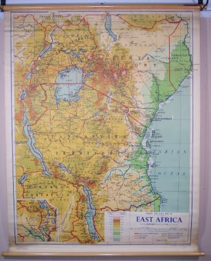 Map Of Africa Viewpoint.Philips New Wall Map Of East Africa East Africa From The British