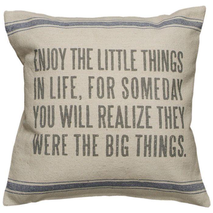 Dica para começar bem o seu dia! #aproveite #almofada #decoração #motivacional