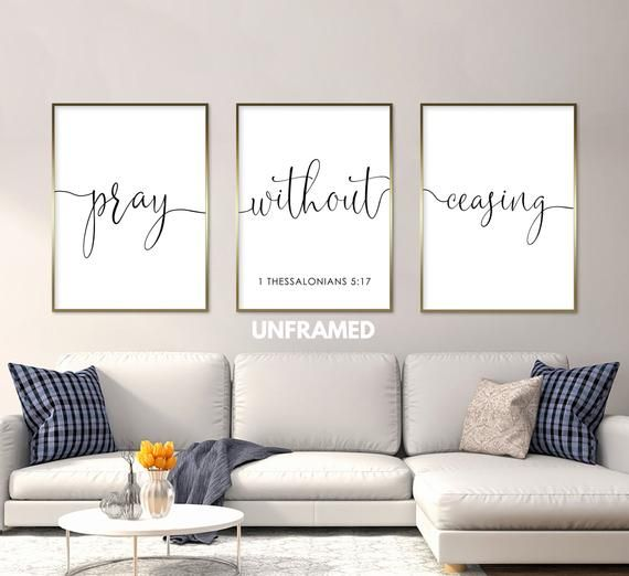 Pray Without Ceasing Art Print Home Decor Wall Art Poster