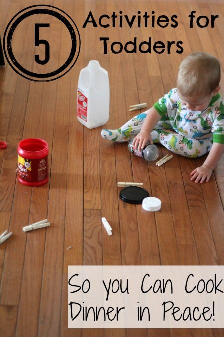 5 Simple Independent Activities for Toddlers.  For those times when you NEED them to be occupied.
