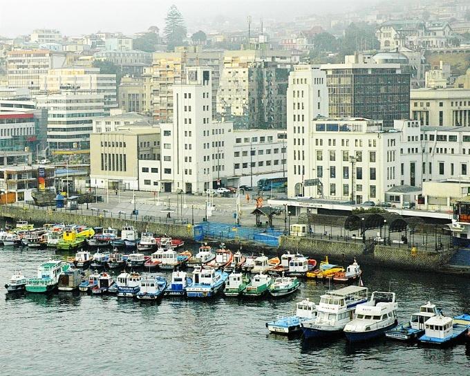 Valparaiso, Chile; Busy Harbor