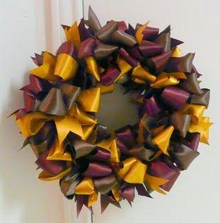 Fall Ribbon Wreath « Karaboo Ribbons & Bows Blog
